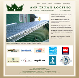 Roofing Contractor Web Site - Eagle Rock, California