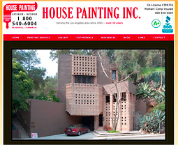 Painting Contractor Web Site - La Crescenta, California