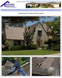 Roofing Contractor Web Site - Carson, California